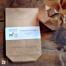10 Bodenbeutel aus Packpapier. Geeignet zum Verpacken kleiner Geschenke. (Lieferung ohne Dekoration)