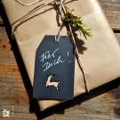 Geschenkanhänger schwarz - mit weißem Stift beschreibbar!