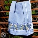 Alpenblumen - Schweizer Baumwoll Geschirrtuch in Blau/Weiß mit Enzian und Edelweiß von Meyer Mayor