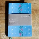 Gmund Dirndl Notizbuch in hellblau mit Stoffbezug aus Leinen