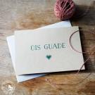 Gmund Mundart-Karte Ois Guade - Karte mit halbtransparentem Umschlag