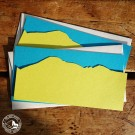 Gmund Kartenset mit Alpenpanorama - Das Set besteht aus zwei Karten mit Umschlägen.