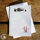 Gmund Klappkarte Bergwinter mit Prägung. Im Buchdruckverfahren hergestellt.