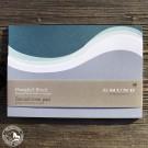 Gmund Mangfall-Wellen-Block in graublauen Wasserfarben.