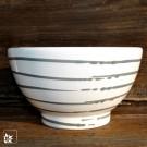 Gmundner Keramik: Müslischale Grau Geflammt - Handbemalt!