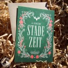 Bayrische Weihnachtskarte Stade Zeit - von Heimatformat aus Bayern - Karte mit Umschlag (Lieferung OHNE Dekoration)