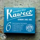 Kaweco Tintenpatronen Paradiesblau - 6 Patronen pro Schachtel
