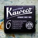 6 Kaweco-Tintenpatronen in Perlschwarz