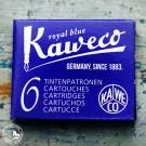 Kaweco Tintenpatronen Royalblau: 6 blaue Tintenpatronen für Kaweco Füllhalter.