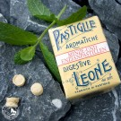 Pastiglie Leone Minze Enzian in der 30 g Packung.