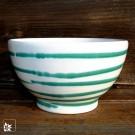 Gmundner Keramik: Müslischale Grün Geflammt - Handbemalt!