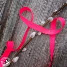 Neon-Geschenkband in der Farbe Pink. 10mm breit