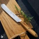 OTTER Streichmesser /Tafelmesser mit Olivenholzgriff und rostfreier Klinge.