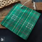 Papierservietten Schottenkaro. grün, 20 Stück, 25 x 25 cm. Sie können diese Servietten auch in den Farben creme und rot erhalten!