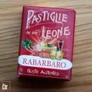 Pastiglie Leone Rhabarber in der 30 g Packung.