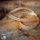 Geschenkband Spitze Gold, 1,5 cm breit – Meterware, Preis pro Meter! Hergestellt in Deutschland.
