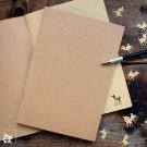 Skizzenheft Bambi aus Kraftpapier. Lieferung OHNE Stift und OHNE Dekoration!)