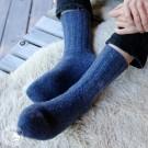 Steiner 1888 - Socken aus gewalkter Wolle für Männer und Frauen - Farbe Crocus (Blau) (Beispielfoto)