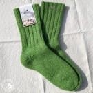 Steiner 1888 - Socken aus gewalkter Wolle für Männer und Frauen - Farbe Lindgrün