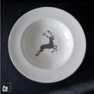 """Der Suppenteller Gourmet """"Grauer Hirsch"""" von Gmundner Keramik."""