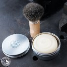 Walde Rasierseife mit Sheabutter - Weiß - 100 g  (Lieferung ohne Pinsel und Dekoration)