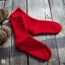 Die Walksocken Walburga sind aus Bergschafwolle gestrickt.