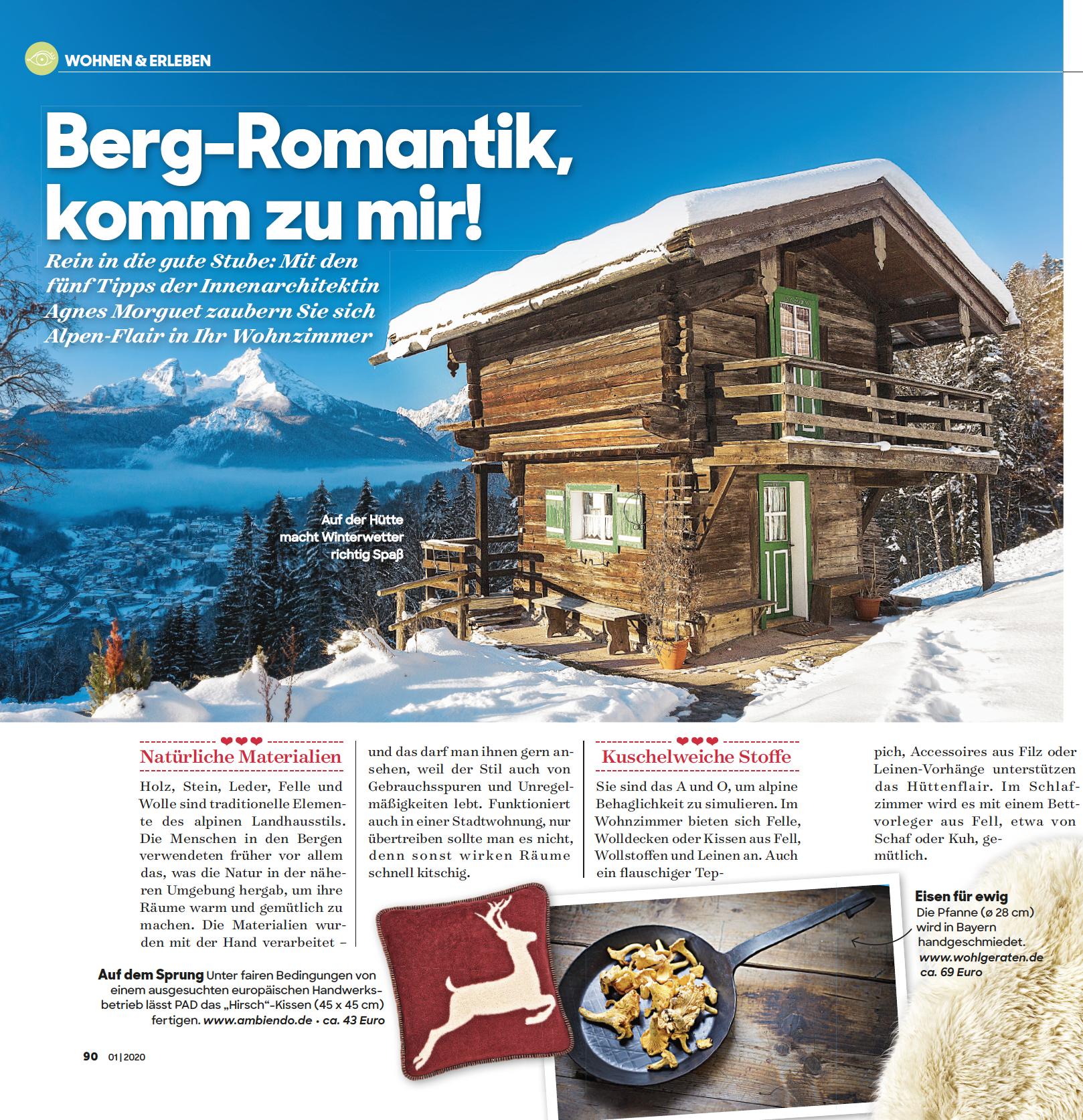 Handgeschmiedete Eisenpfanne im Plus Magazin