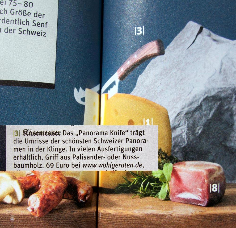 BEEF! Sonderheft Schweiz - Käsemesser von Panoramaknife