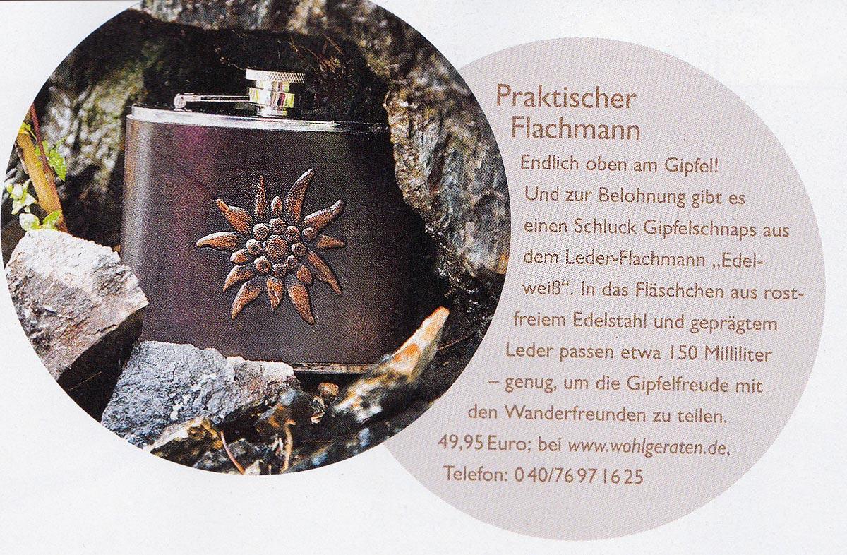 Flachmann Edelweiss Land und Berge 042015