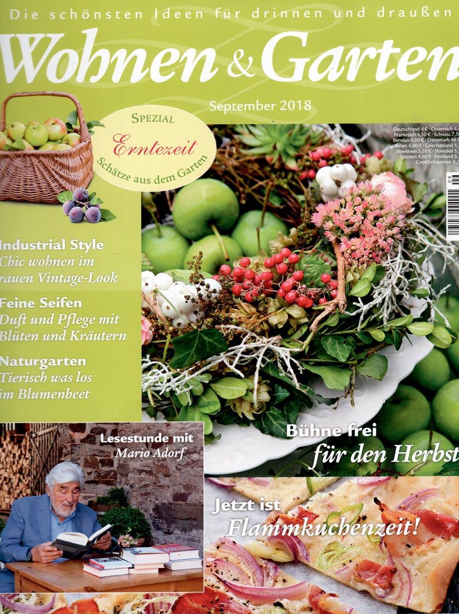 Wohnen und Garten 092018 Cover