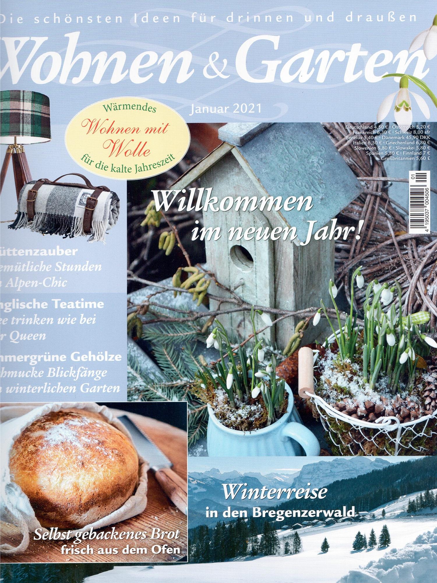 Wohnen und Garten 01 2021 - Cover