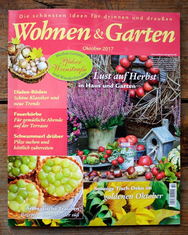 Cover Magazin Wohnen und Garten Oktober 2017